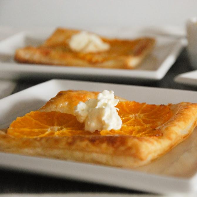 Tartitas de mandarina y mascarpone